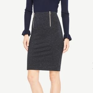 Ann Taylor Spacedye Knit Ponte Skirt with Zippers